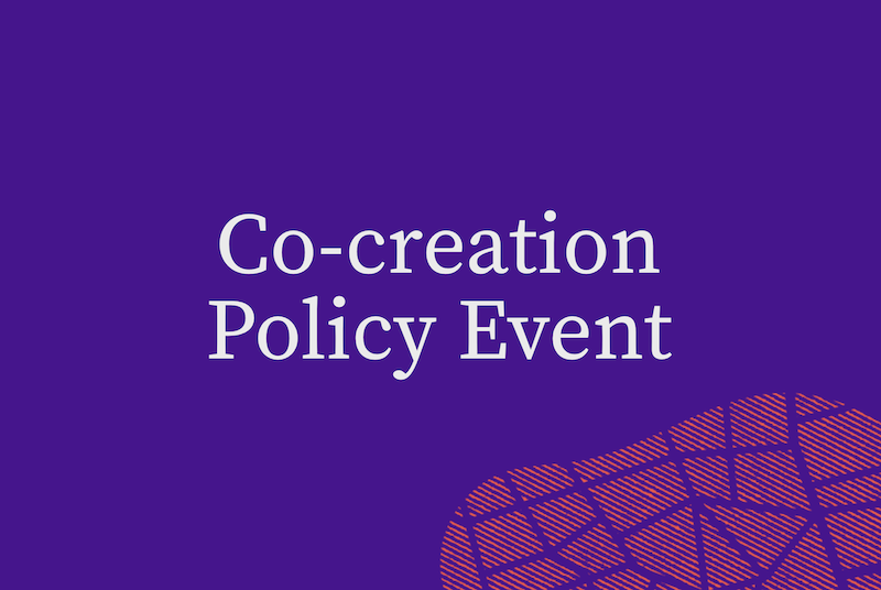 Co-creation Policy Event